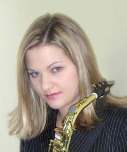 "The ""Jazz Lady"" at USCA, saxophonist, Lauren Meccia - and leader of the Jazz Band"