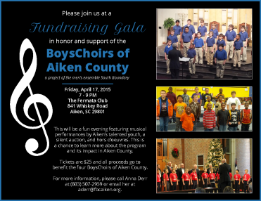 Gala in support of our boys' choirs.